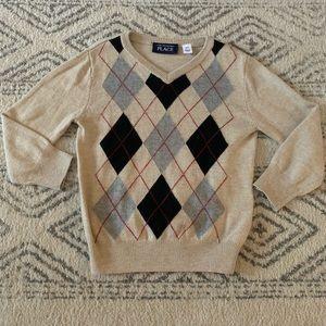 Super soft Beige Argyle Sweater